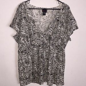 Torrid Black & White Lace Top